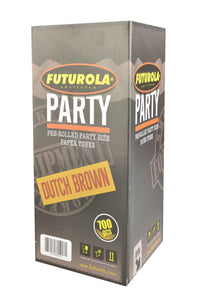 Futurola Pre Rolled Cones Party Size 26mm filter tip 140mm cone HUGE - Dutch Brown