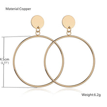 Load image into Gallery viewer, Gold Circle Drop Earrings
