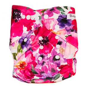 Pink & Lilac Watercolor Floral Pocket