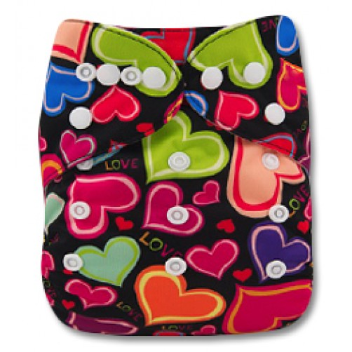 Multicoloured Hearts Pocket