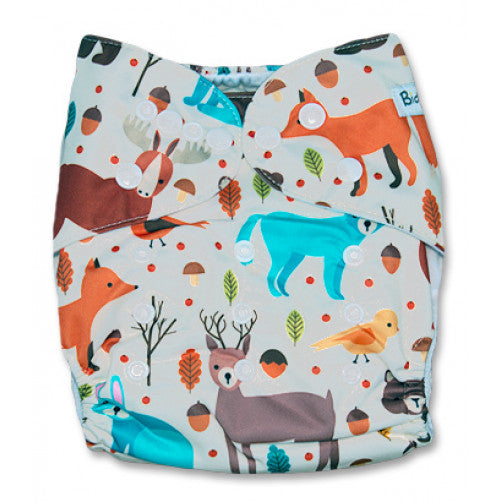Cream Woodlands Creatures Position Print Pocket