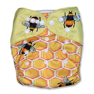 Honey Comb with Honey Bees Position Print Pocket