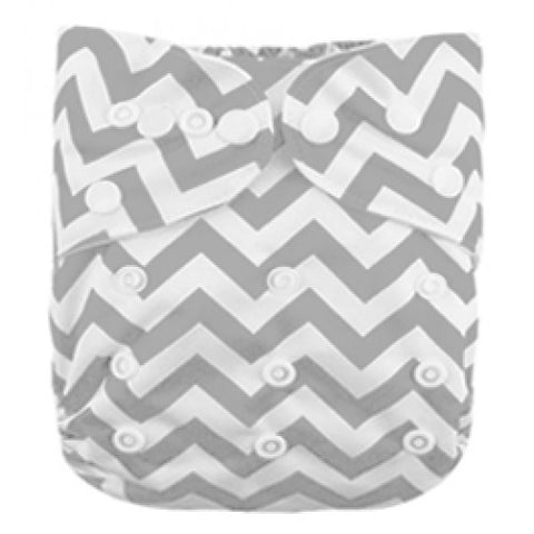 Grey Chevron Newborn Cover