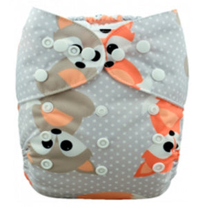 Orange Grey Baby Foxes Newborn Cover