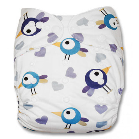 Blue Purple Birds Newborn Cover