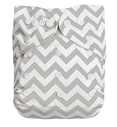 Extra Large Grey Chevron Pocket