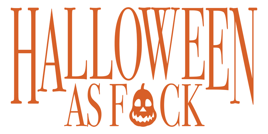 Halloween As F*uck Decal - Haunt Shirts