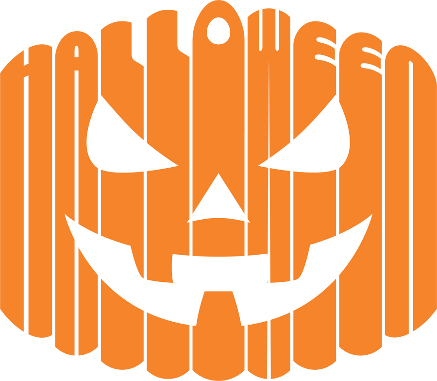 Halloween Pumpkin Face Decal - Haunt Shirts