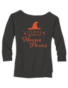 It's Just a Bunch of Hocus Pocus Ladies Wide Neck Sweatshirt - Haunt Shirts