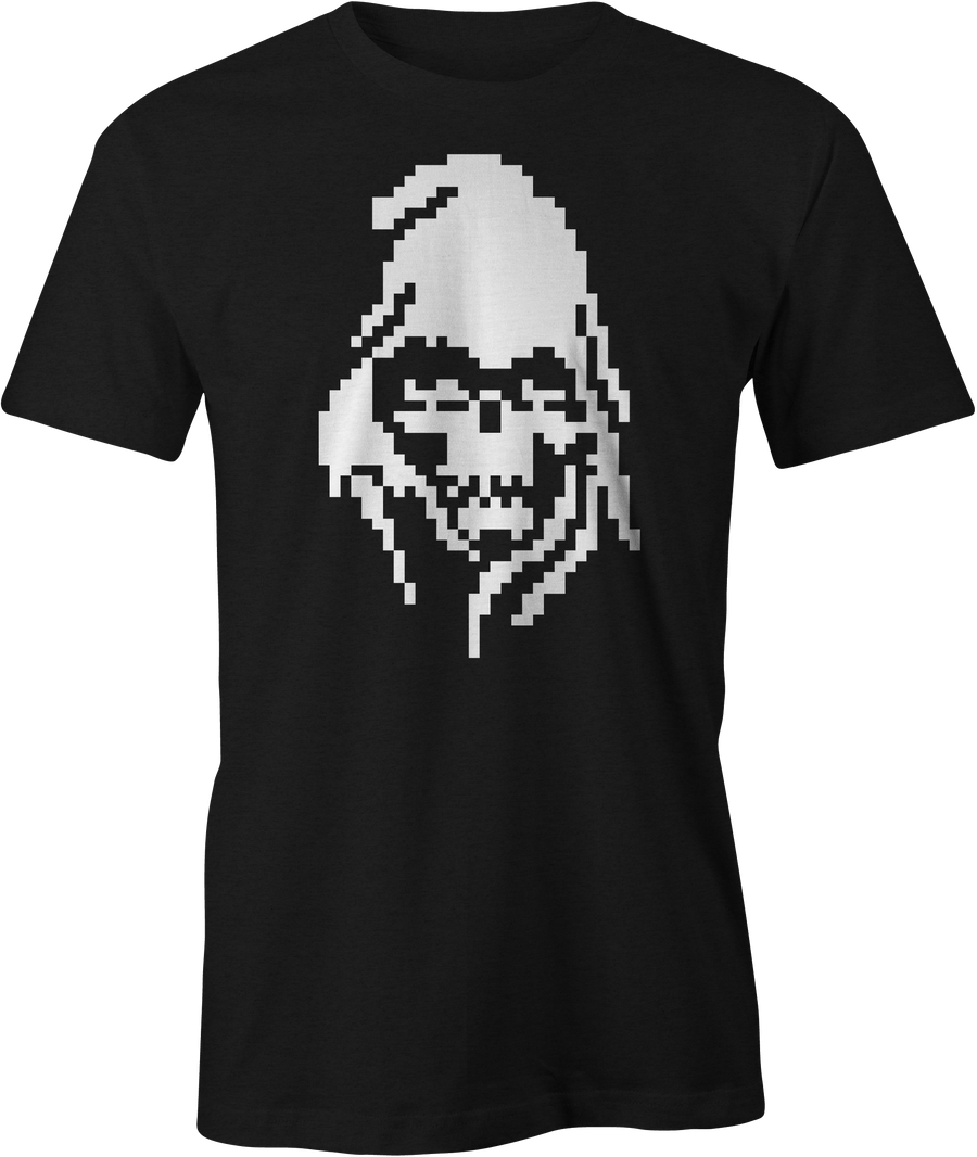 Pixelated Reaper (Glows) - Haunt Shirts