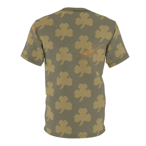8BIT SHAMROCK- Men's AOP Cut & Sew Tee
