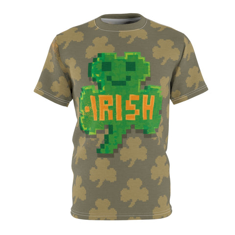 St. Patrick's Day 8BIT Shamrock all over print cut & sew men's t-shirt by Love Nico.