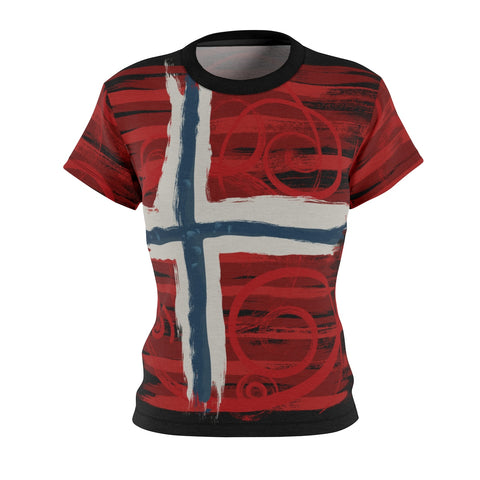 NORWAY -Women's AOP Cut & Sew Tee