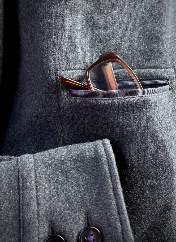 Midnight Navy Fine Pinstripe Suit.