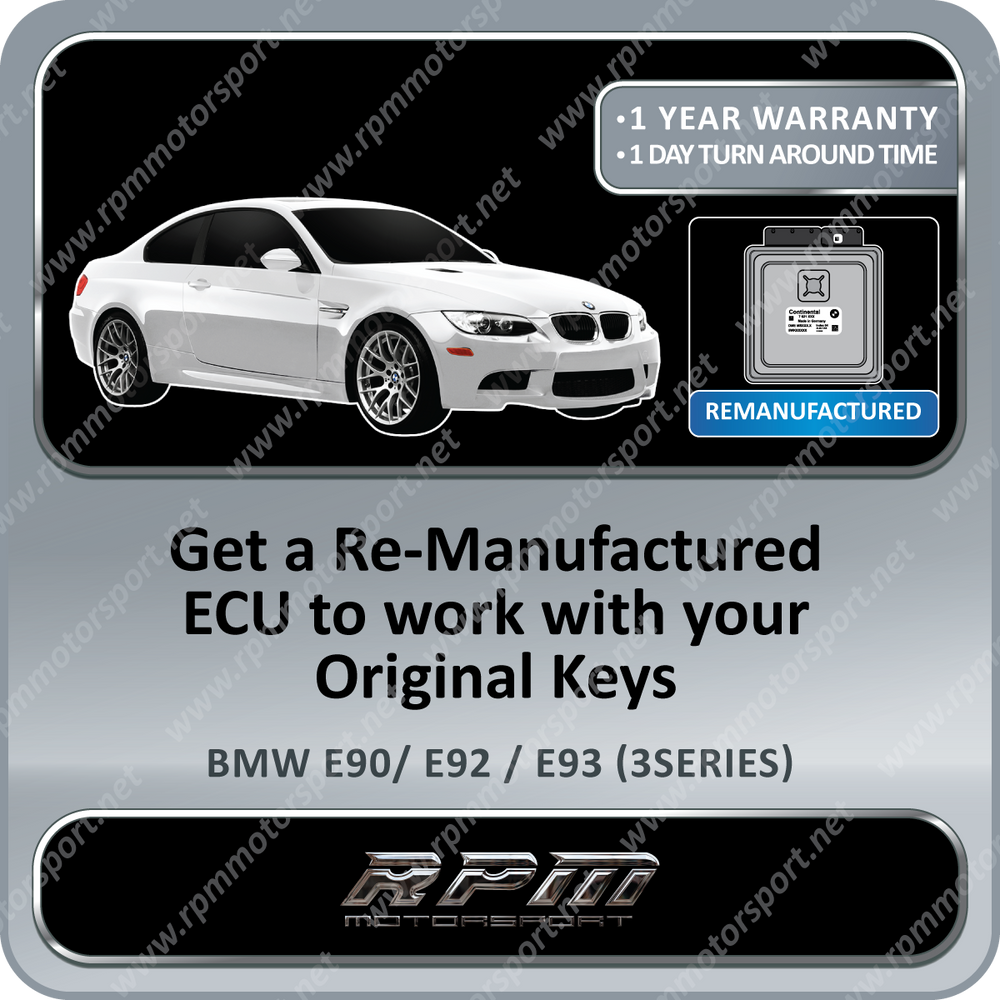 BMW E90 (3 Series) MSV70 Re-manufactured ECU 01/2005 to 08/2006