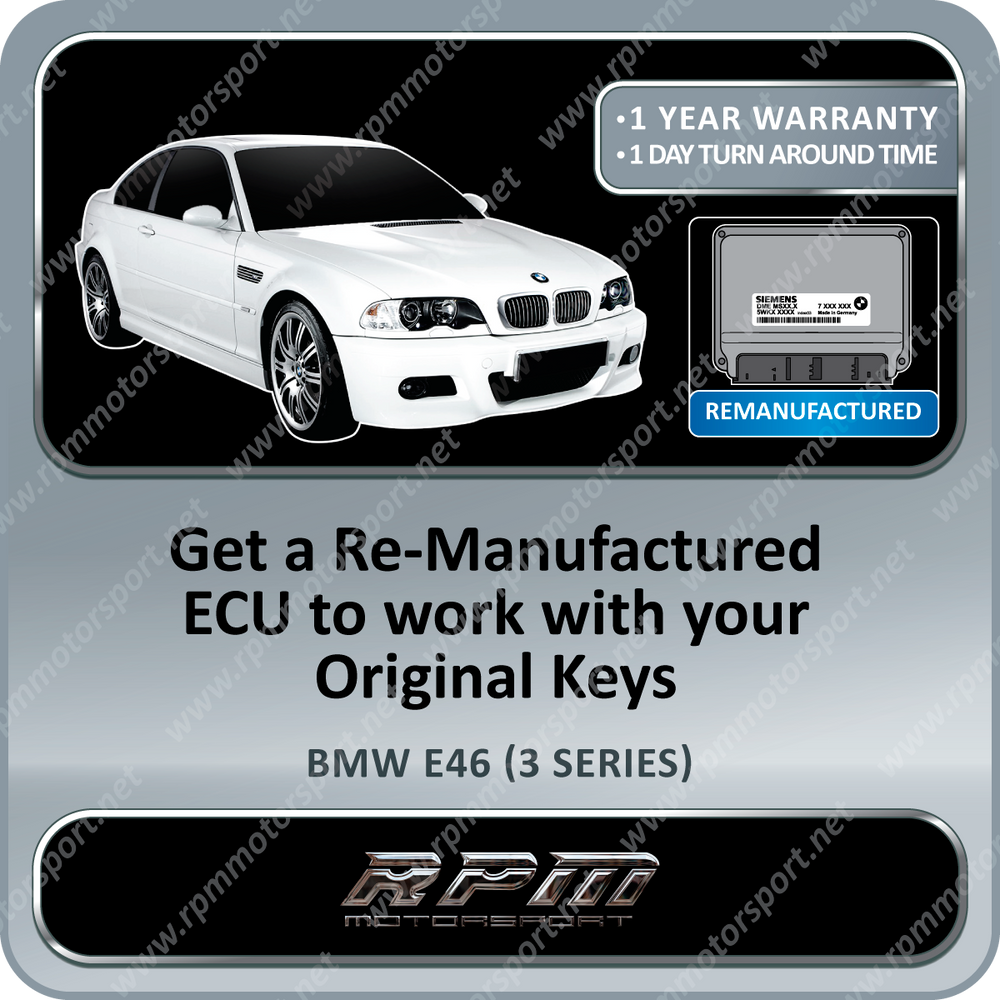 BMW E46 (3 Series) MS43 Re-Manufactured ECU 01/2001 to 03/2003