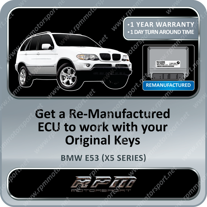 BMW E53 (X5 Series) MS43 Re-Manufactured ECU 11/1999 To 06/2006