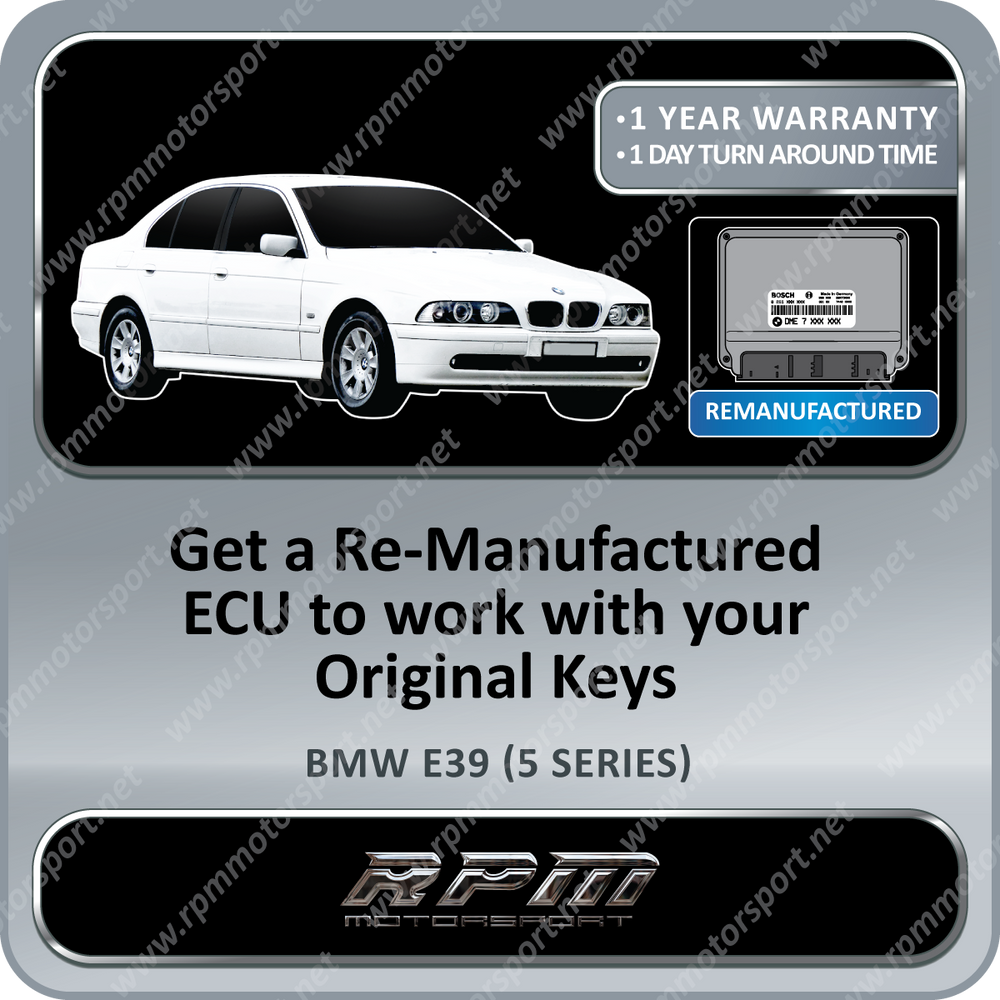 BMW E39 (5 Series) ME7.2 Re-manufactured ECU 10/1998 to 07/2003