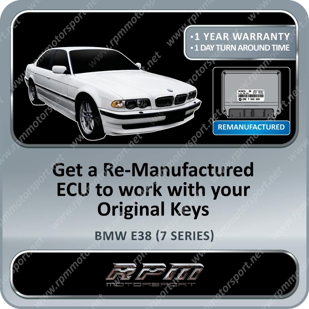 BMW E38 (7 Series) ME5.2.1 Re-manufactured ECU 05/1997 to 09/1998