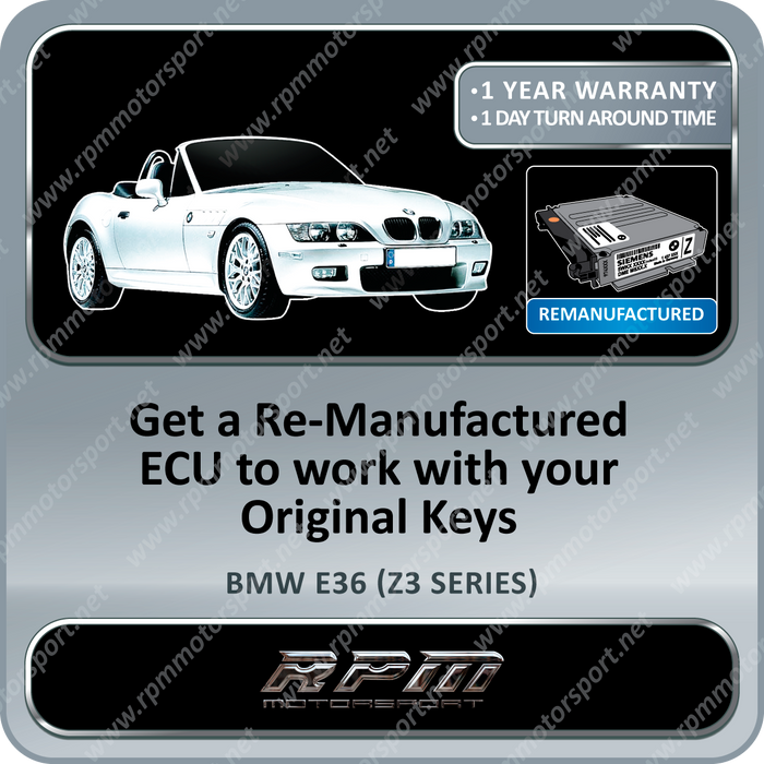 BMW E36 (Z3 Series) MS41.2 Re-Manufactured ECU 10/1997 to 07/2000