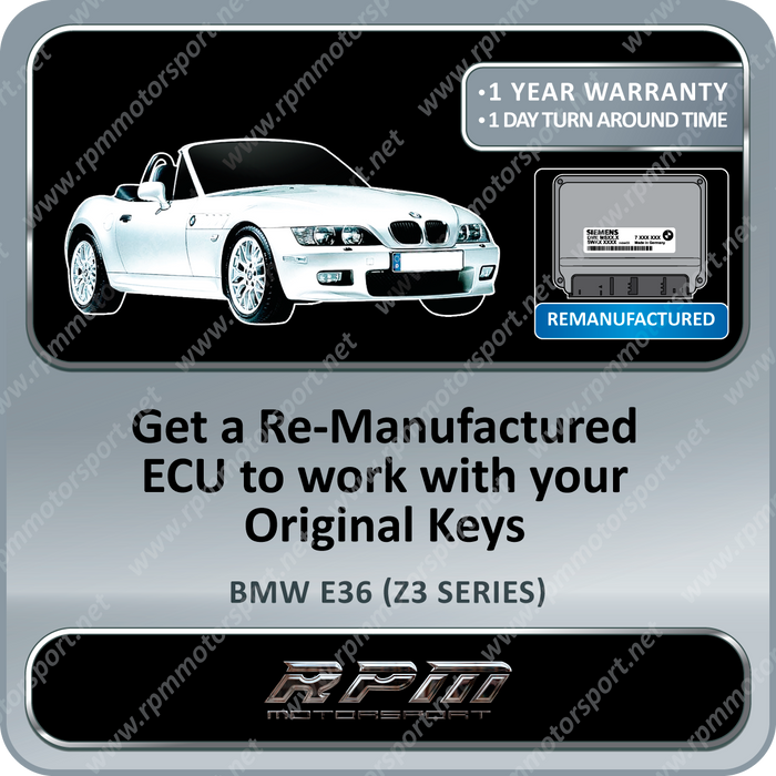 BMW E36 (Z3 Series) MS43 Re-Manufactured ECU 06/2000 to 08/2002