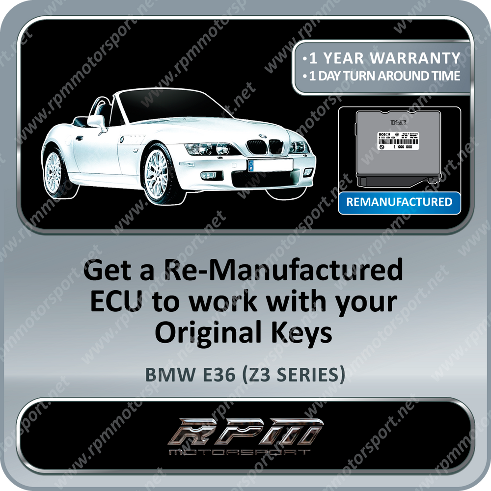 BMW E36 (Z3 Series) ME5.2 Re-Manufactured ECU 01/1996 to 09/1998