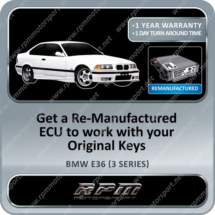 BMW E36 (3 Series) MS41.2 Re-Manufactured ECU 01/1996 to 08/1999