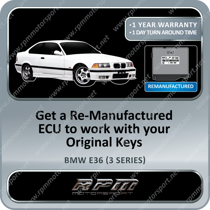 BMW E36 (3 Series) ME5.2 Remanufactured ECU 01/1996 to 07/1999