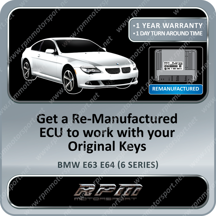 BMW E63 E64 (6 Series) ME9.2 Re-Manufactured ECU 08/2004 to 08/2005