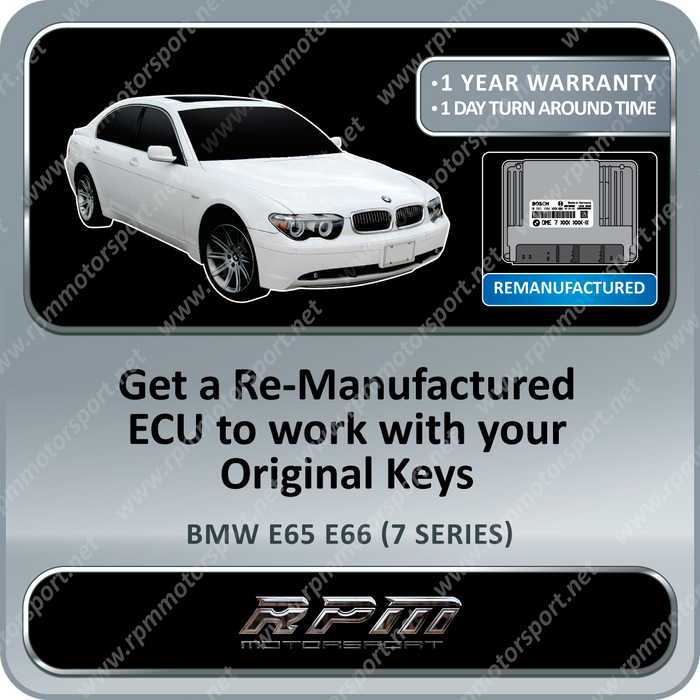 BMW E65 E66 (7 Series)ME9.2 Re-Manufactured ECU 01/2001 to 09/2003