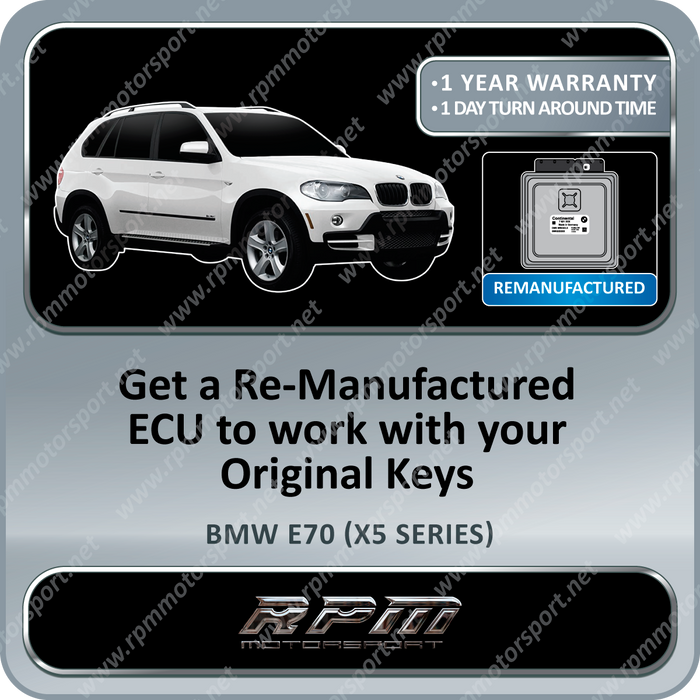 BMW E70 (X5 Series) MSV80 Remanufactured ECU 08/2006 to 3/2010