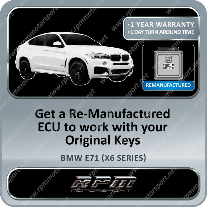 BMW E71 (X6 Series) MSD81 Re-Manufactured ECU DME 01/2008 to 12/2009