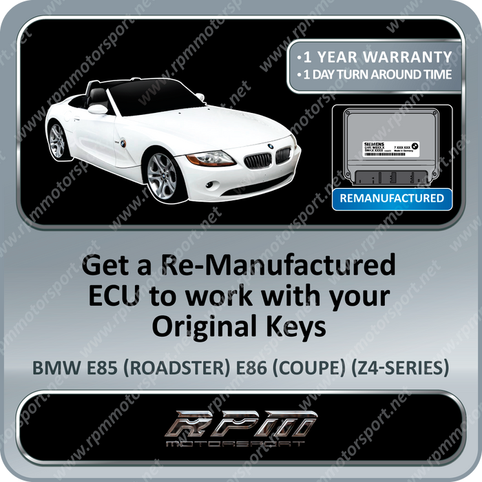 BMW E85 (Z4 Series) MS45.0 Remanufactured ECU 03/2003 To 05/2005