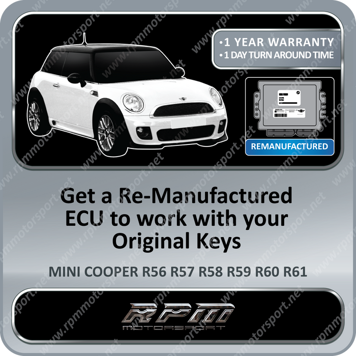 MINI COOPER S Cabrio (Convertible) R52 Years 10/2005 To 07/2008 RE-MAN ECU