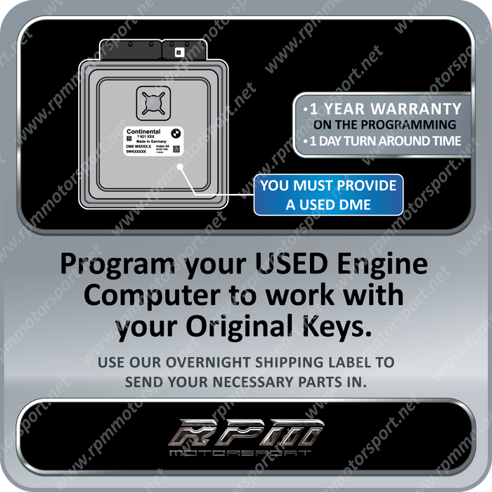 BMW MSV70 MSS70 Z4 USED DME PROGRAMMING 01/2006 to 08/2008