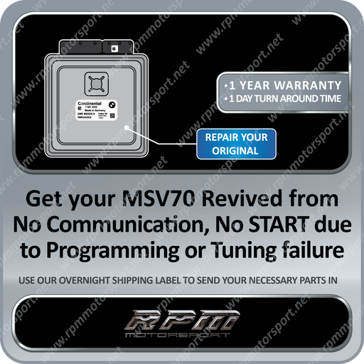 BMW MSV70 / MSS70 E90 E60 Z4 DME Revival Service (Bricked) 01/2005 To 08/2006
