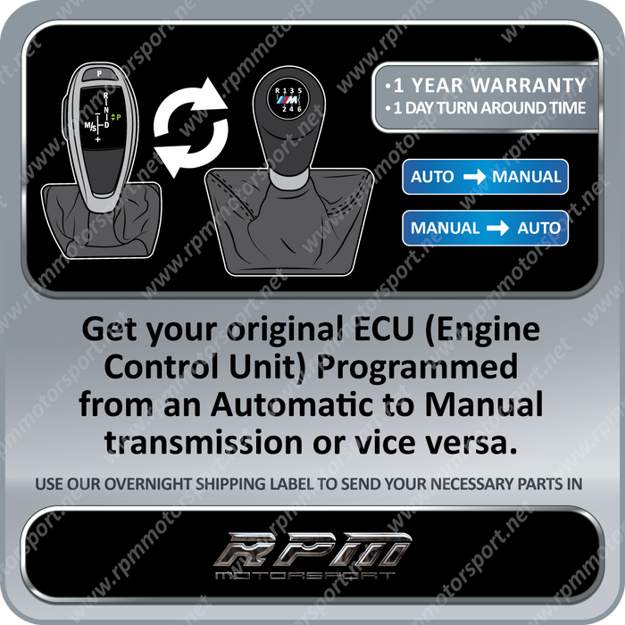 BMW 540i 740i X5 4.4l Transmission Swap Conversion Software 1997 to 2001
