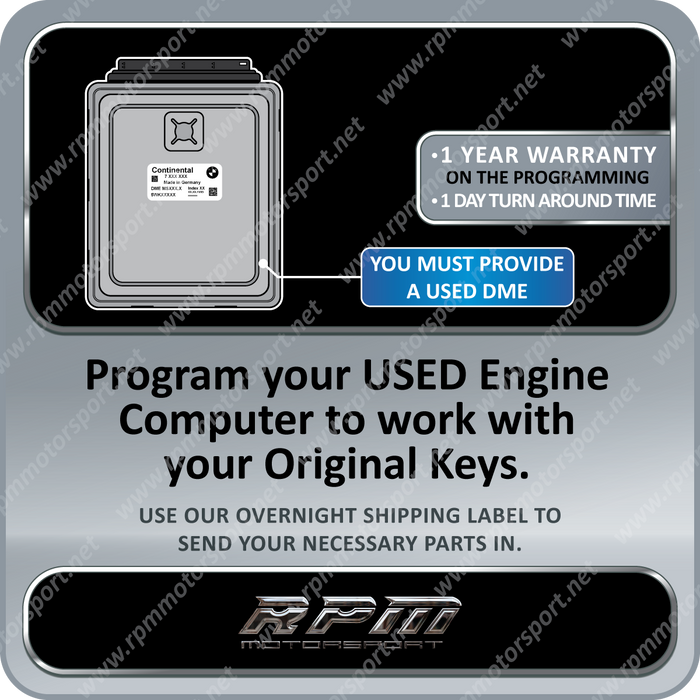 BMW MSD85.0 MSD87 N63 N54 Engine F-Series USED DME Programming
