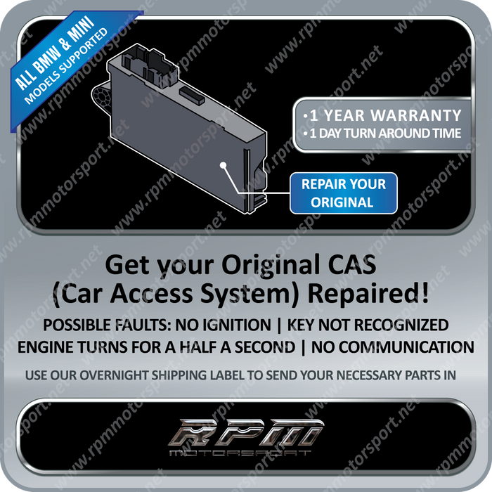 BMW / MINI CAS3 Module Repair Service (All Models Supported)