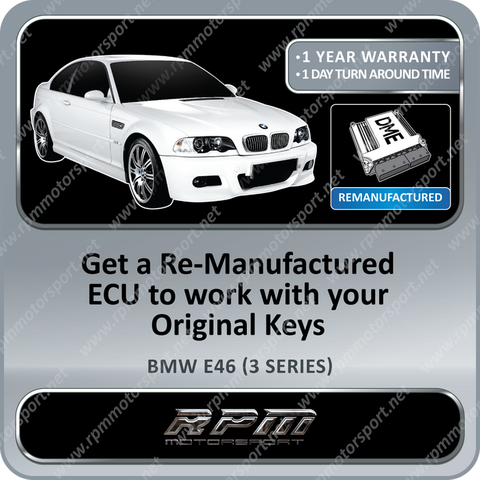 BMW E46 (3 Series) BMS46 Re-Manufactured ECU 06/1998 to 03/2002