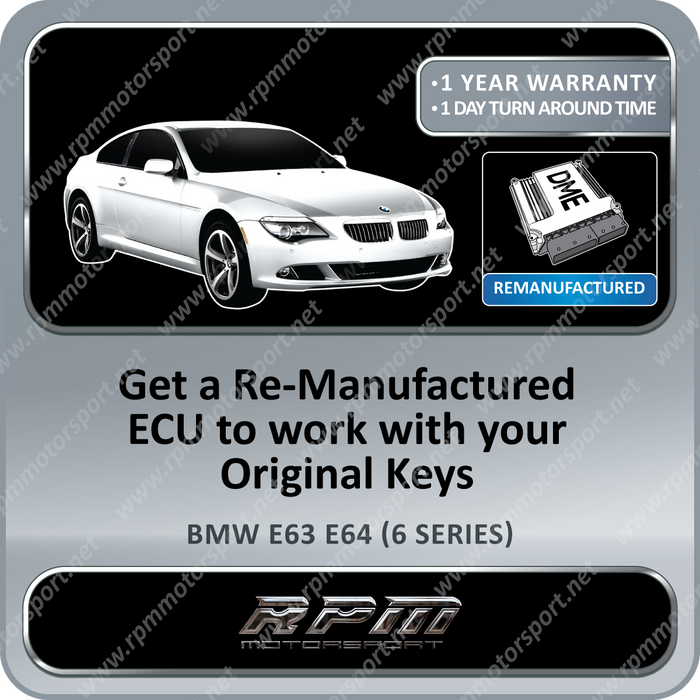 BMW E63 E64 (6 Series) M6 MSS65 Re-Manufactured ECU 05/2003 to 12/2009