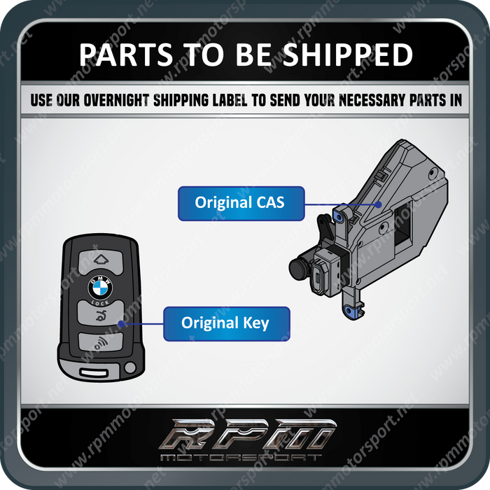 BMW E65 (7 Series) Remote Key Set (Total of 2) Years 01/2001 to 07/2008