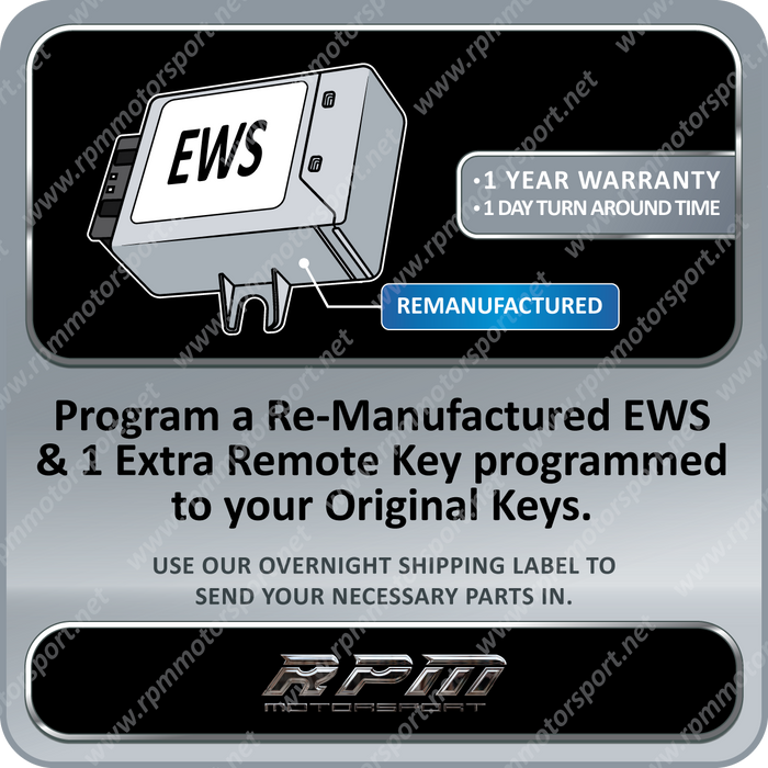 BMW Remanufactured EWS3 with 1 Remote Key 01/1997 to 03/1998