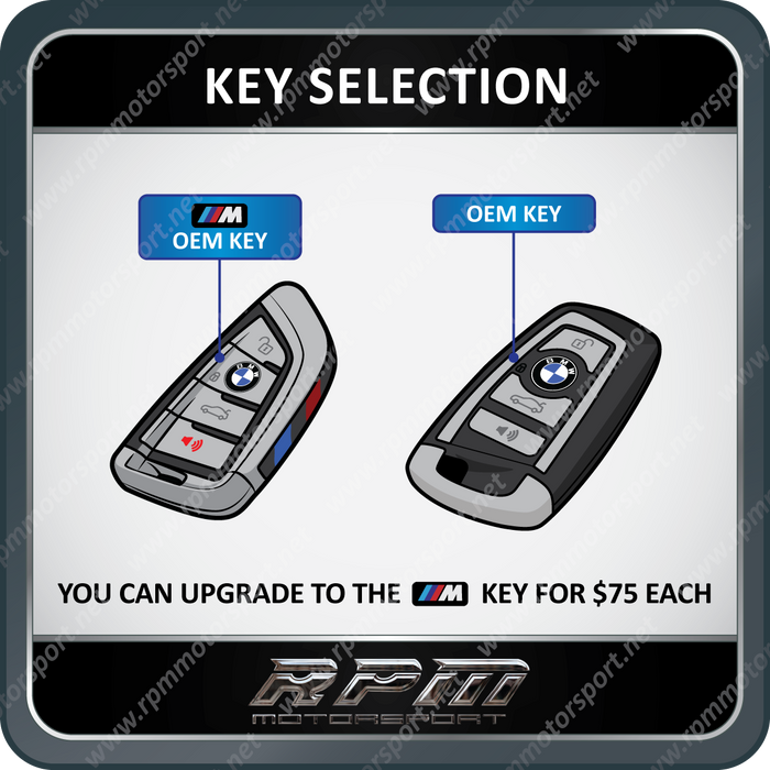 BMW (X3 Series) F25 F-Series 2 Smart Remote Key Set (2010 to 2018)