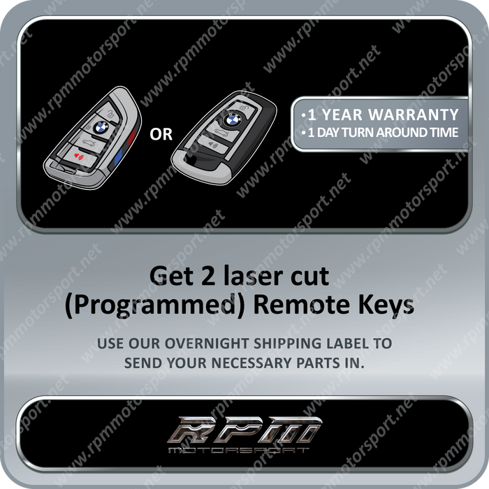 BMW (X4 Series) F26 F-Series 2 Smart Remote Key Set (2013 to 2018)