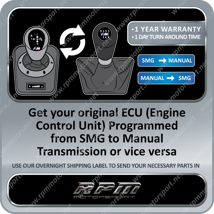 BMW E46 M3 S54 MSS54 SMG to Manual Transmission Conversion Software