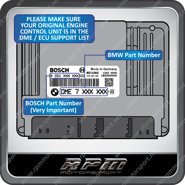 BMW E60 (5 Series) ME9.2 Re-Manufactured ECU 02/2005 to 02/2007