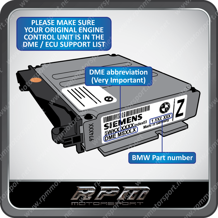 BMW E39 (5 Series) MS41.1 Re-Manufactured ECU 07/1995 to 09/1998