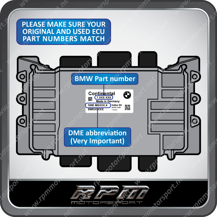 BMW MSV90 PART NUMBER SEARCH