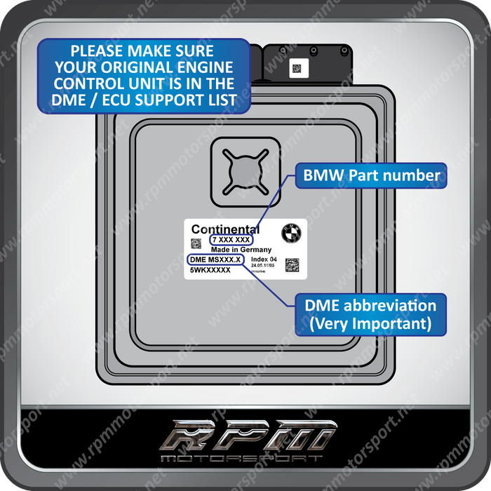 BMW E90 - E92 - E93 M3 (3 Series) MSS60 2F49 A102 anti tampering protection